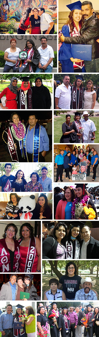 Lambda Theta Nu Sisters with their parents.
